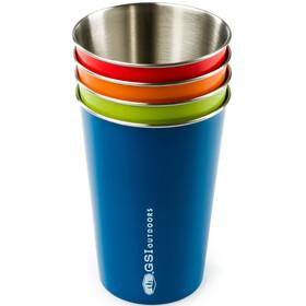 GSI Set de Vasos acero inoxidable - Recipientes para bebidas - 4 partes Multicolor